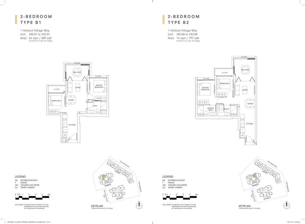 One Holland Village Residences Floor Plan 65 61009963 Singapore